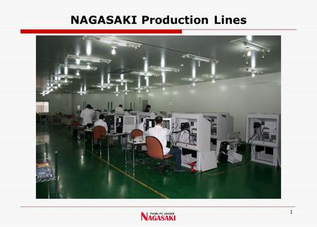 1 NAGASAKI Production Lines. 2 Kiosk Production Lines.