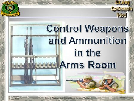 Control Weapons and Ammunition in the