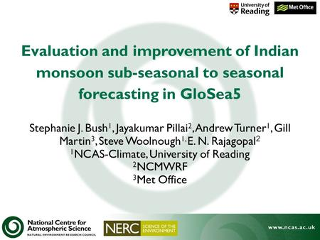 1NCAS-Climate, University of Reading