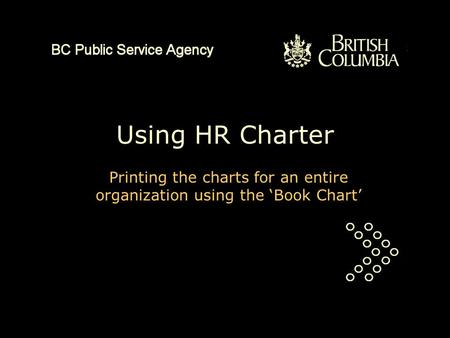 Using HR Charter Printing the charts for an entire organization using the 'Book Chart'