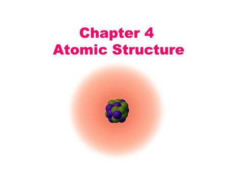 Chapter 4 Atomic Structure. OBJECTIVES: Understand the history of atom Differentiate between different models of the atom Identify the no. of protons.
