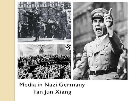 Rampant in Nazi Germany Minister of Propaganda/Enlightenment, Joseph Goebbels Newspapers, radio and all forms of media Art by Jews banned. 'Out of the.