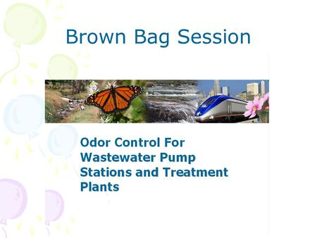 Brown Bag Session. THREE STRATEGIES AVAILABLE FOR ODOR CONTROL IN WASTEWATER COLLECTION SYSTEMS AND TREATMENT PLANTS. Preclude foul odors from forming.
