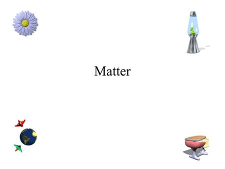 Matter What is matter? Anything that has mass and takes up space. What do we use to measure mass? –Balance –What are the units associated with mass?