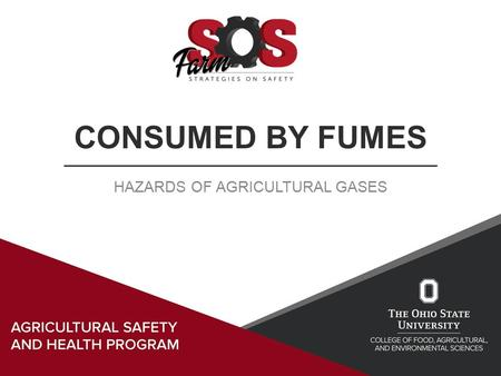 CONSUMED BY FUMES HAZARDS OF AGRICULTURAL GASES. Learning Objectives Understanding the types of respiratory hazards Identifying hazardous atmospheres.