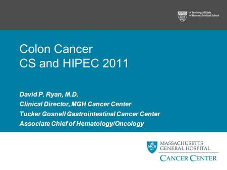 Colon Cancer CS and HIPEC 2011