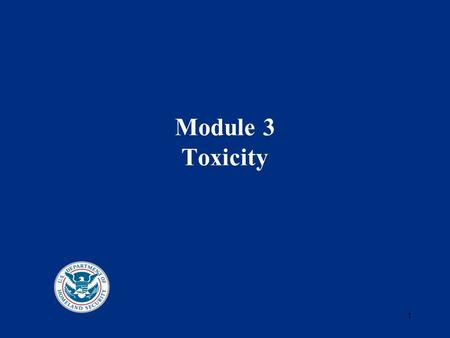 1 Module 3 Toxicity. 2 Toxicity Measures The term Ct is used to describe an estimate of dose. C represents the concentration of the substance (as vapor.