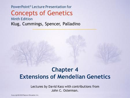 Extensions of Mendelian Genetics