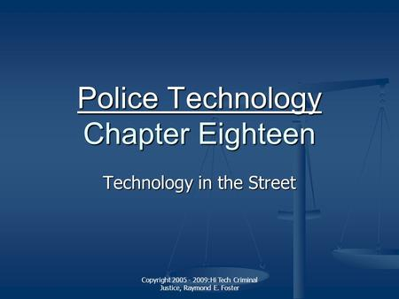 the evolution of criminal justice technology Technology in criminal justice people have an idea of how law enforcement works but rarely ever think of how much technology affects it, and how much it keep them.