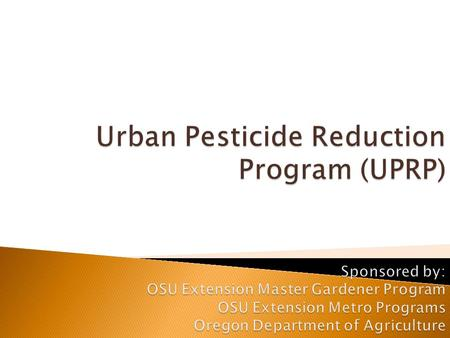 Introductions Review of Last Week's Class Overview of UPRP and Class Surveys (IRB) Environmental and Human Health Impacts of Pesticides What is a Pesticide?