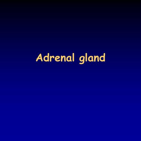 Adrenal gland. Hormones of the adrenal cortex the paired adrenal glands (4-5 g each) are located at the upper pole of the kidneys embedded in adipose.