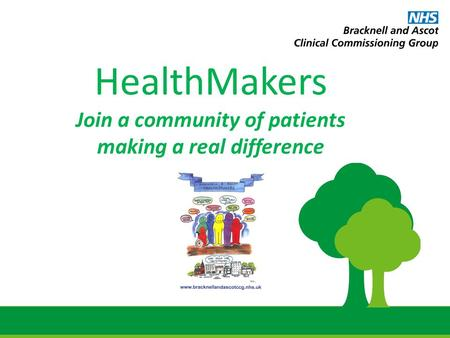 HealthMakers Join a community of patients making a real difference.