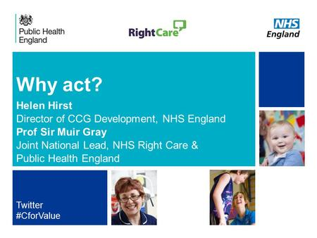 NHS | Presentation to [XXXX Company] | [Type Date]1 Why act? Helen Hirst Director of CCG Development, NHS England Prof Sir Muir Gray Joint National Lead,