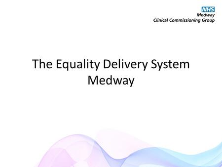 The Equality Delivery System Medway. Talked to lots of different groups to make a web app to help local people find out information about different services.