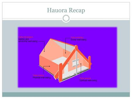 Hauora Recap. Hauora / Well-being Check out this link - Hauora / Well-being 1. What is the name of the building represented? 2. Who has introduced the.