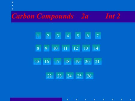Carbon Compounds 2a Int 2 1234 567 89 10 111213 14 15 22 23242526 161718192021.