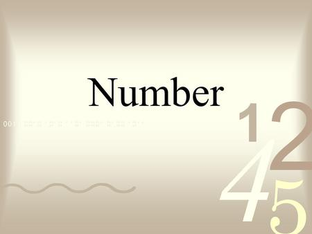 Number. Counting Numbers - Also known as Natural numbers = 1, 2, 3, 4, 5... Multiples - Achieved by multiplying the counting numbers by a certain number.