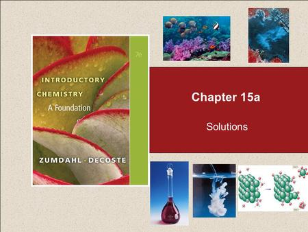 Chapter 15a Solutions. Chapter 15 Table of Contents 2 15.1 Solubility 15.2 Solution Composition: An Introduction 15.3 Solution Composition: Mass Percent.