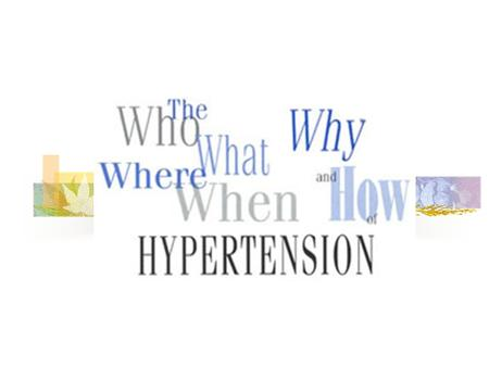 Hypertension Blood pressure levels are a function of cardiac output multiplied by peripheral resistance (the resistance in the blood vessels to the flow.