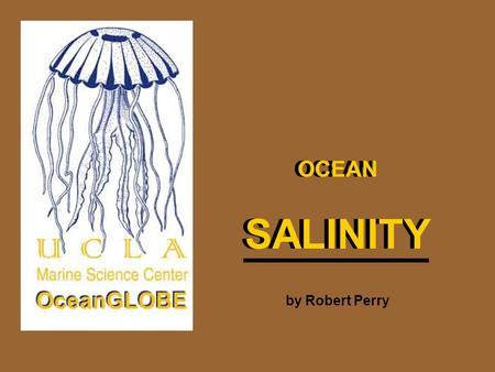 SALINITY SALINITY OCEAN OCEAN by Robert Perry