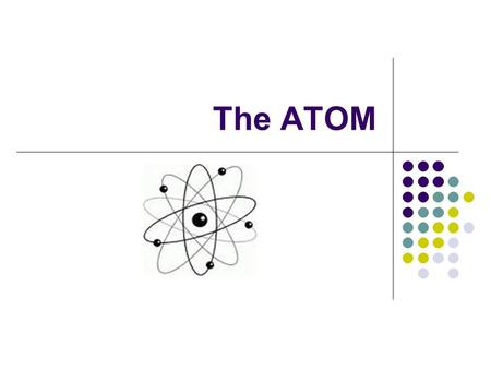 The ATOM. Atoms the basic building block of all matter the smallest particle of an element that retains the properties of that element electrically.