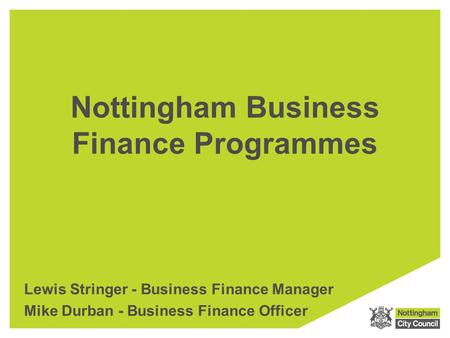 Nottingham Business Finance Programmes