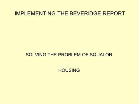 Essay on beveridge report
