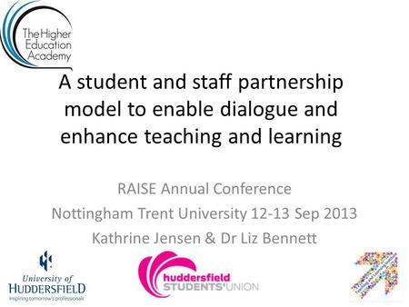 RAISE Annual Conference Nottingham Trent University Sep 2013