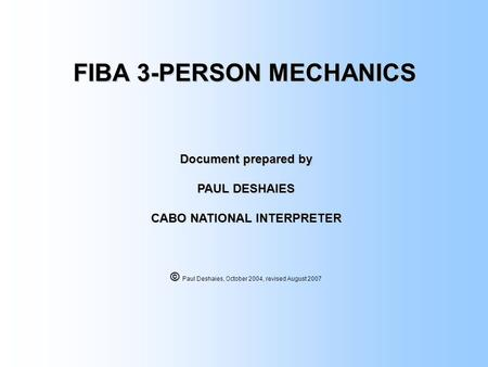 FIBA 3-PERSON MECHANICS