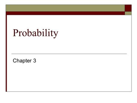 Probability Chapter 3. Methods of Counting  The type of counting important for probability theory involves choosing the number of ways we can arrange.