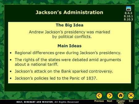 the administration of andrew jackson According to politico, the agency will instead replace president andrew jackson  on the $20 bill with harriet tubman it's a shame that.