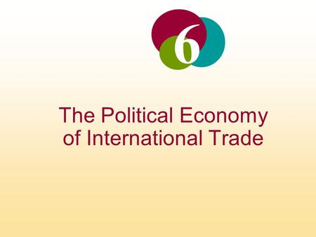 The Political Economy of International Trade 6. INTRODUCTION Free trade refers to a situation where a government does not attempt to restrict what its.