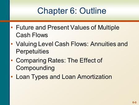 Multiple Cash Flows –Future Value Example 6.1