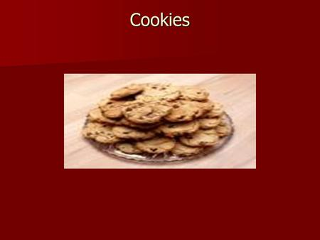 "Cookies. Cookie Facts koekje ""cookie"" in Dutch meaning little cake used to test oven temperature."
