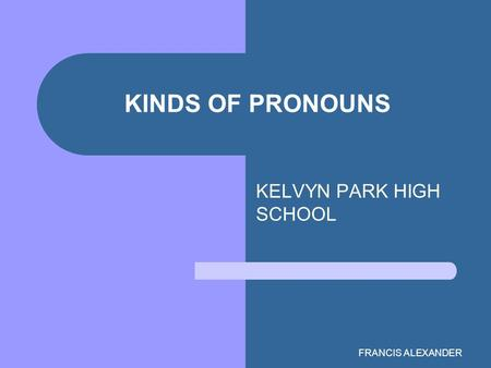 KELVYN PARK HIGH SCHOOL