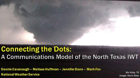 Connecting the Dots: A Communications Model of the North Texas IWT