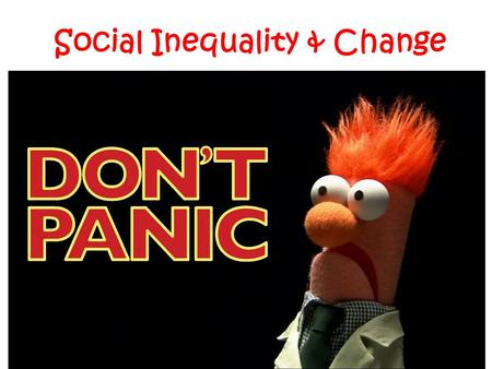 Social Inequality & Change. Collective behavior Definition: activity involving a large number of people; often spontaneous, sometimes controversial Collectivity: