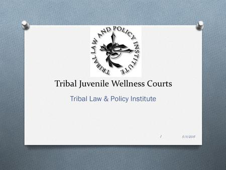 Tribal Juvenile Wellness Courts Tribal Law & Policy Institute 5/11/2015 1.