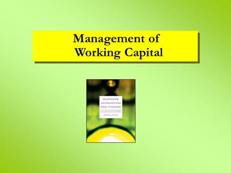 aim and objectives of the working capital management Working capital management is crucial for any business to grow and succeed so where do you turn if you have an unexpected working capital shortfall.