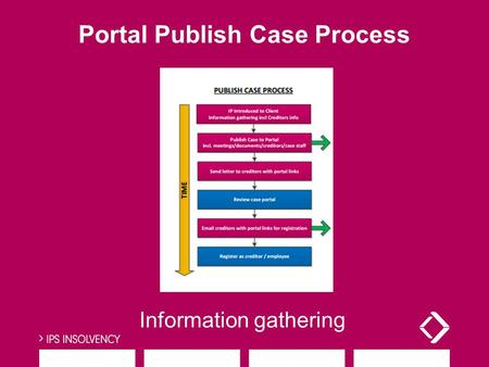 Portal Publish Case Process Information gathering.
