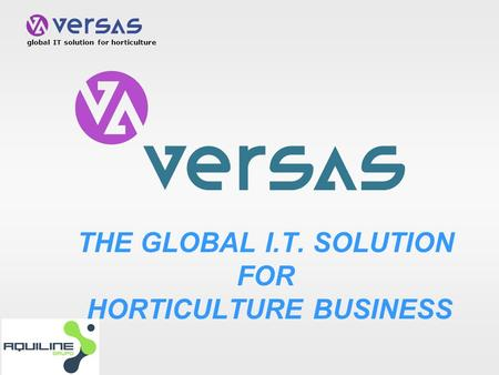 Global IT solution for horticulture THE GLOBAL I.T. SOLUTION FOR HORTICULTURE BUSINESS.