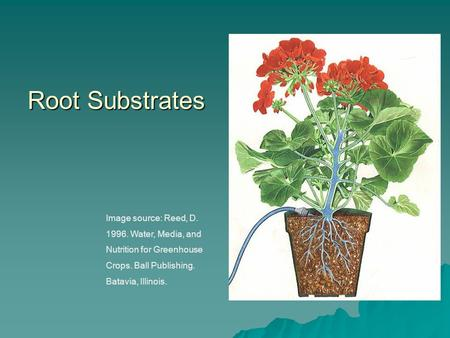 Image source: Reed, D. 1996. Water, Media, and Nutrition for Greenhouse Crops. Ball Publishing. Batavia, Illinois. Root Substrates.