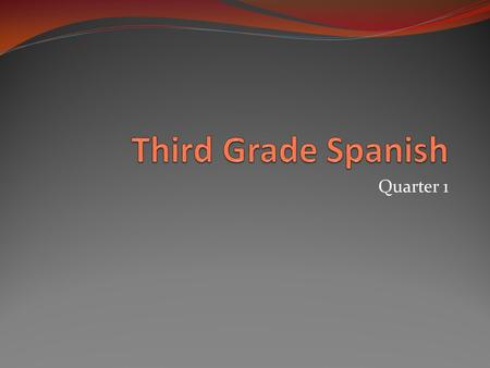 "Quarter 1. Which vowel in Spanish says… AHH…. Like in the word ""awe"" A."