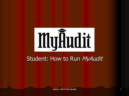 Student: How to Run MyAudit 1. 2 Log into my.ucmerced.edu using your user ID and password.