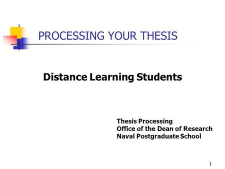 Dissertation In Distance Learning