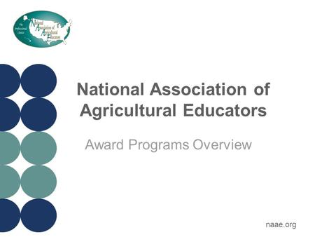 National Association of Agricultural Educators Award Programs Overview naae.org.
