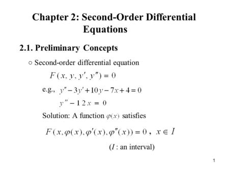 Chapter 2: Second-Order Differential Equations