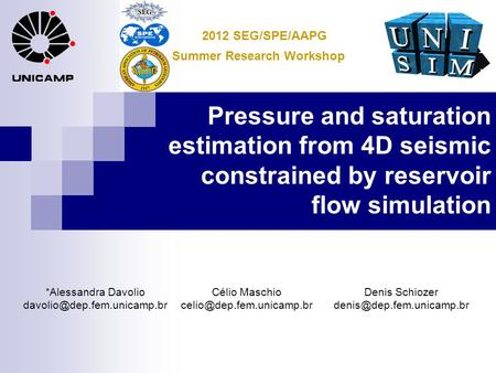 2012 SEG/SPE/AAPG Summer Research Workshop