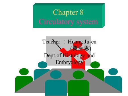 Chapter 8 Circulatory system Teacher : Huang Ju-en ( 黄巨恩 ) Dept.of Histology and Embryology.