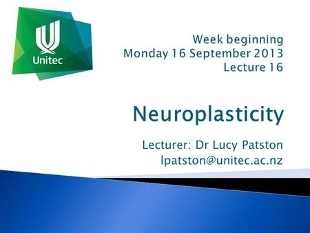 Lecturer: Dr Lucy Patston     Girl living with half her.